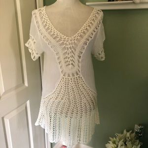 Esley  crochet  tunic